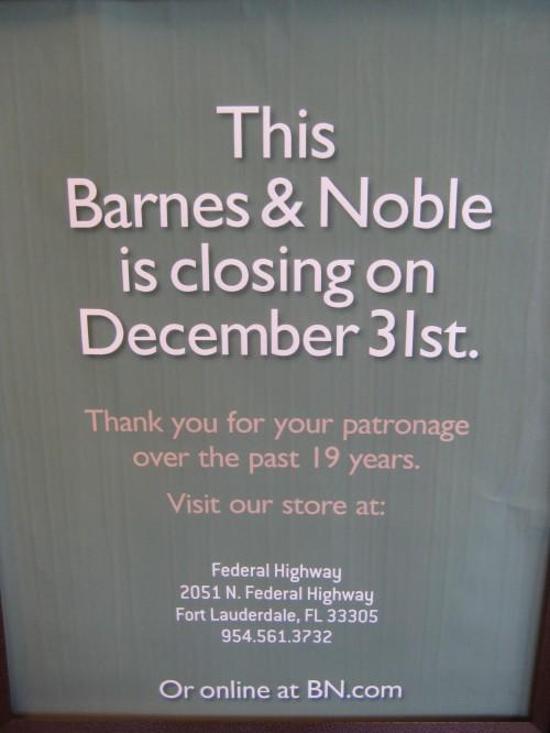 Barnes & Noble Closing In Aventura